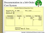 documentation in a job order cost system3
