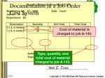 documentation in a job order cost system4