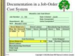 documentation in a job order cost system5