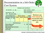 documentation in a job order cost system6