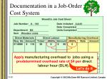 documentation in a job order cost system9