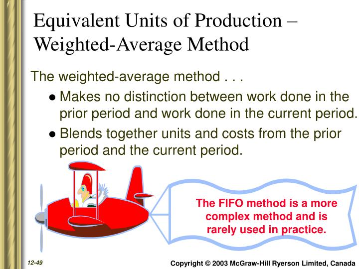 Equivalent Units of Production –