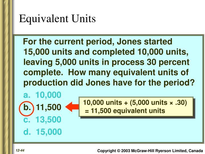 10,000 units + (5,000 units × .30)