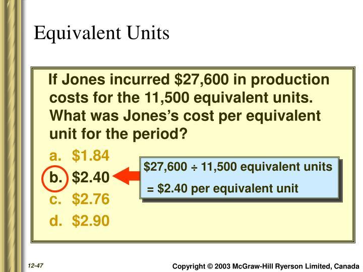 $27,600 ÷ 11,500 equivalent units
