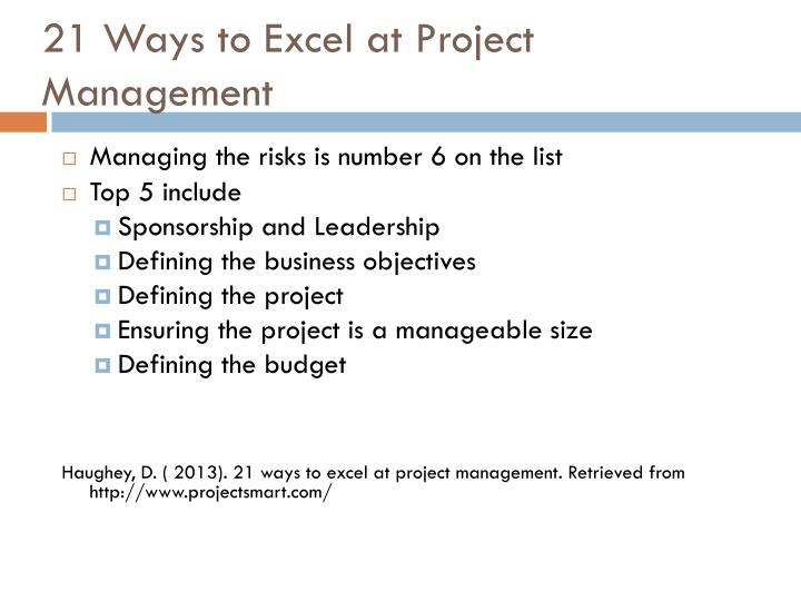 21 Ways to Excel at Project Management
