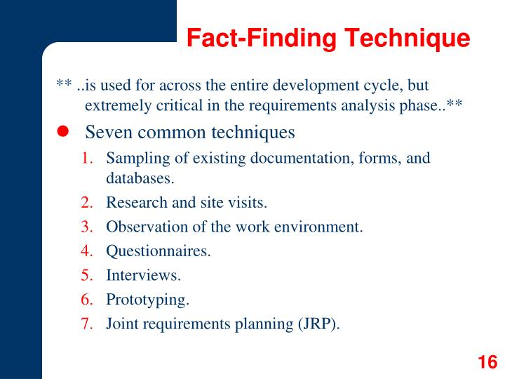 Fact-Finding Technique