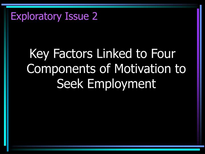 Exploratory Issue 2