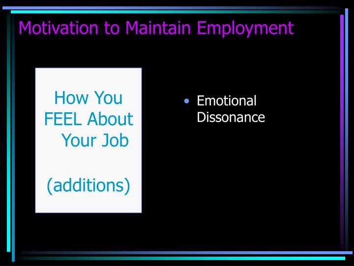 Emotional Dissonance