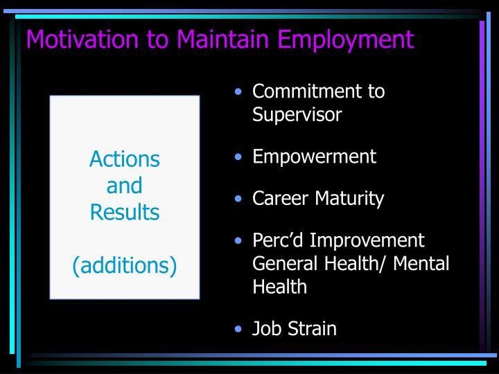 Commitment to Supervisor