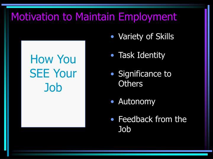 Variety of Skills
