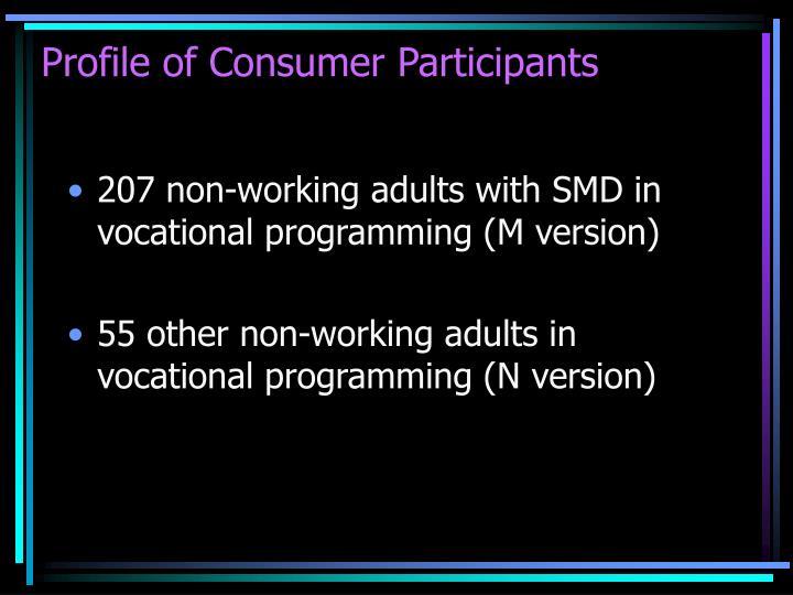 Profile of Consumer Participants