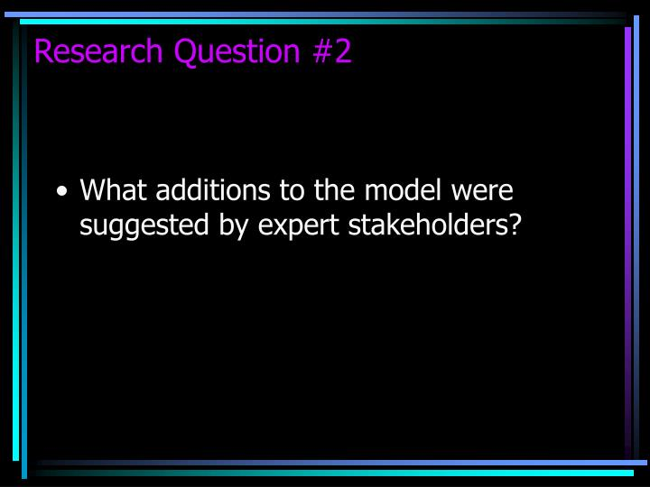 Research Question #2