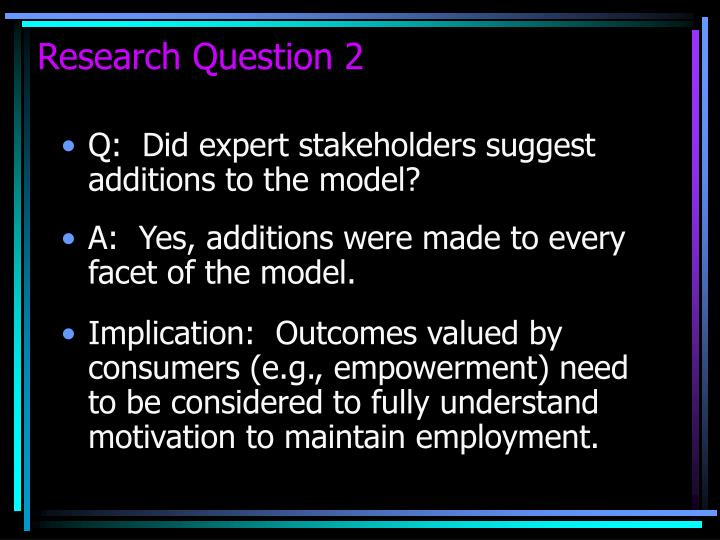 Research Question 2