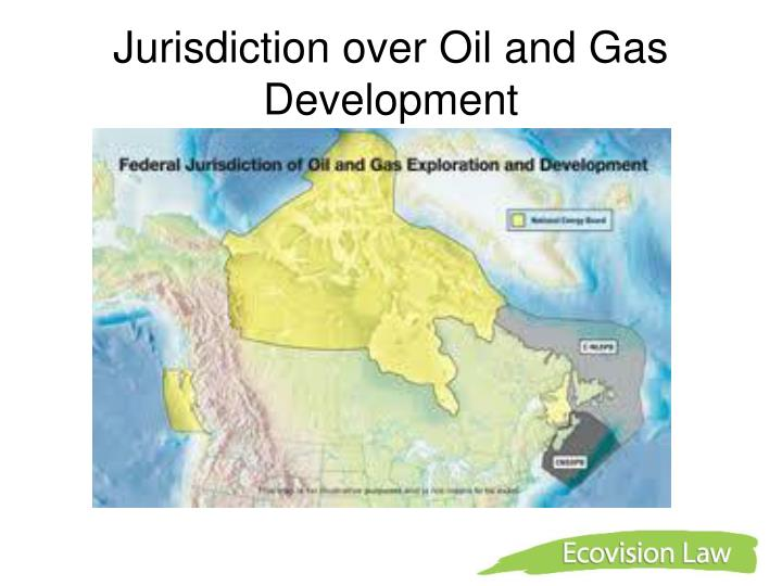 Jurisdiction over oil and gas development