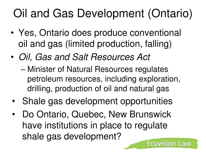 Oil and Gas Development (Ontario)