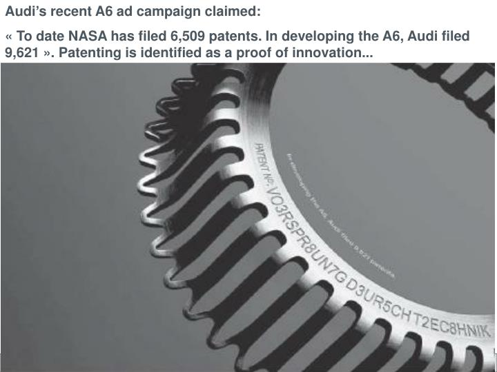 Audi's recent A6 ad campaign claimed: