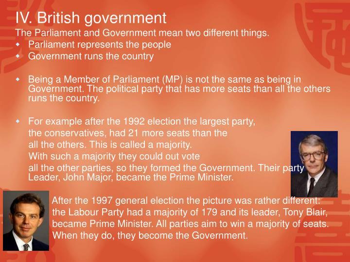 IV. British government