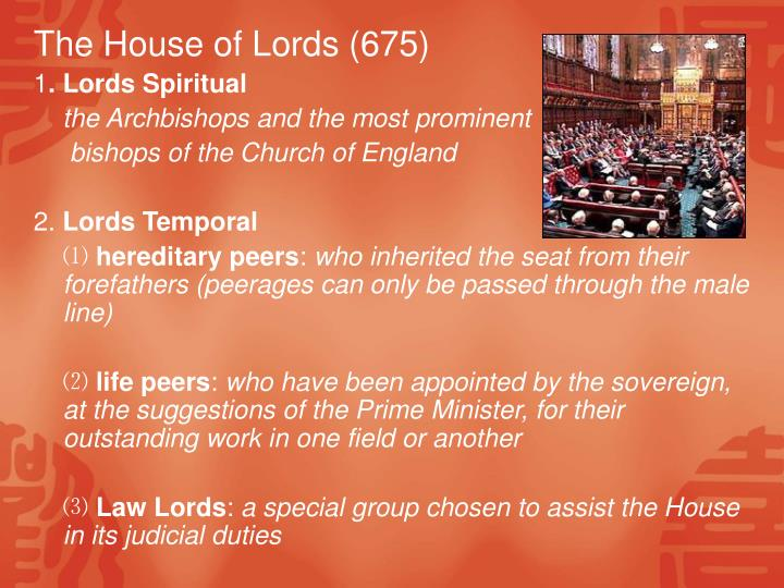 The House of Lords (675)
