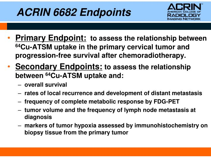 ACRIN 6682 Endpoints