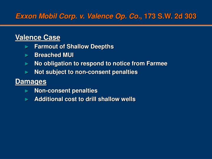 Exxon Mobil Corp. v. Valence Op. Co.