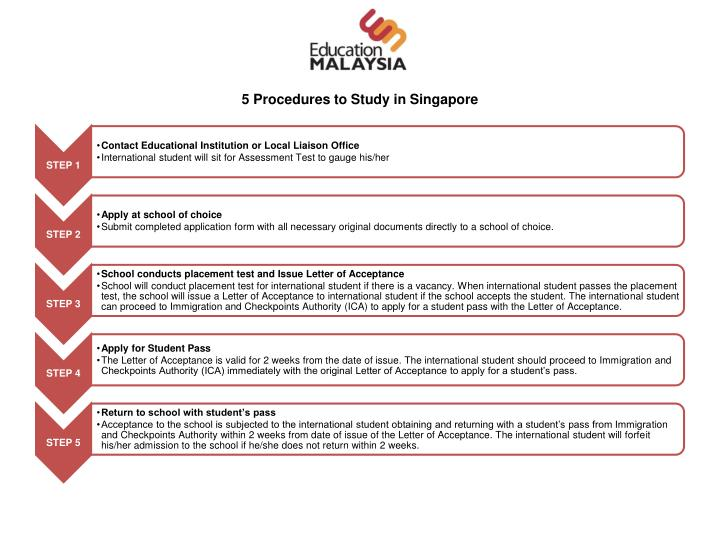 5 Procedures to Study in Singapore