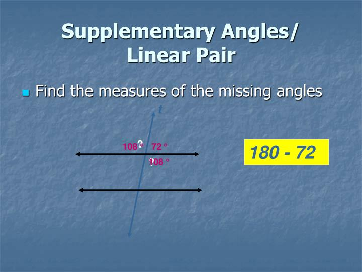 Supplementary Angles/