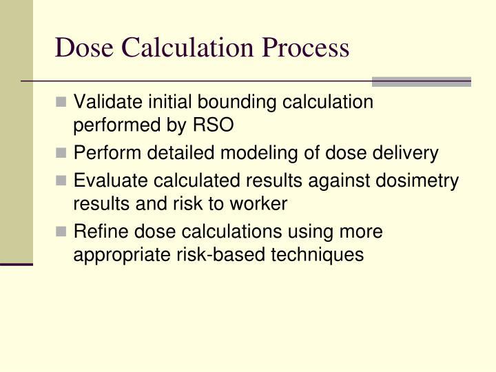 Dose Calculation Process