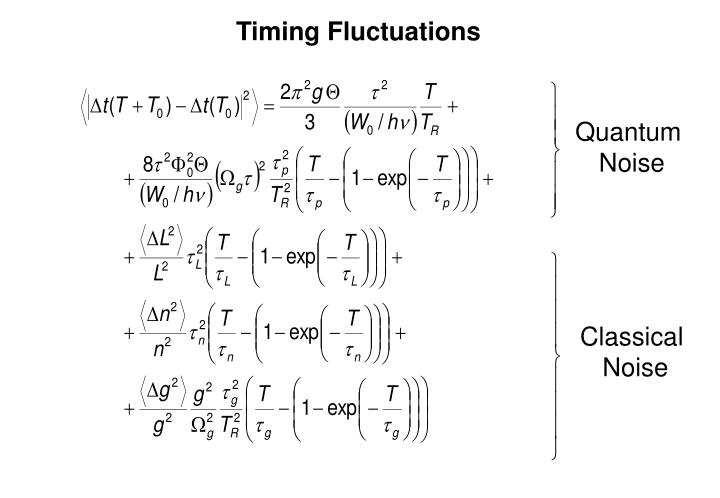 Timing Fluctuations