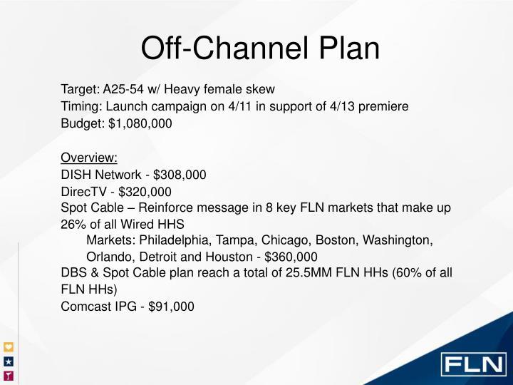 Off-Channel Plan
