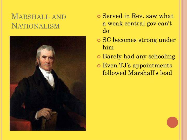 Marshall and Nationalism