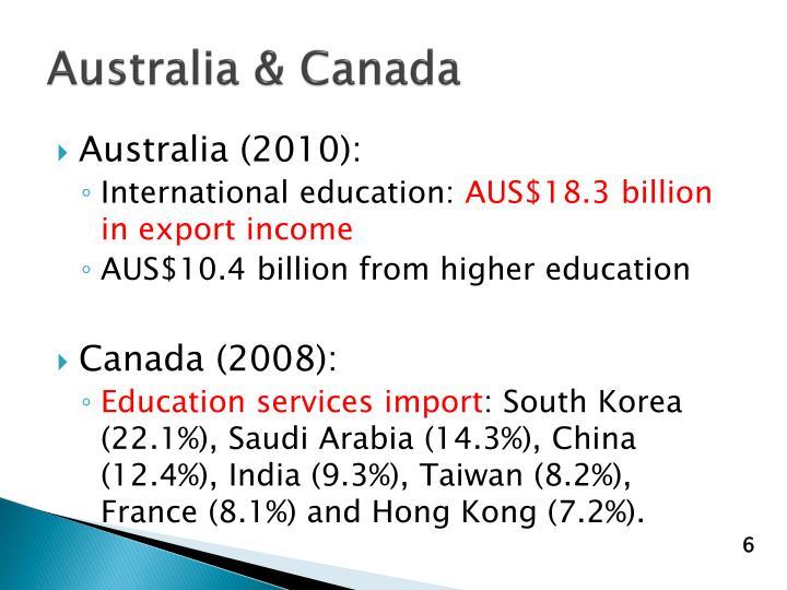 Australia & Canada
