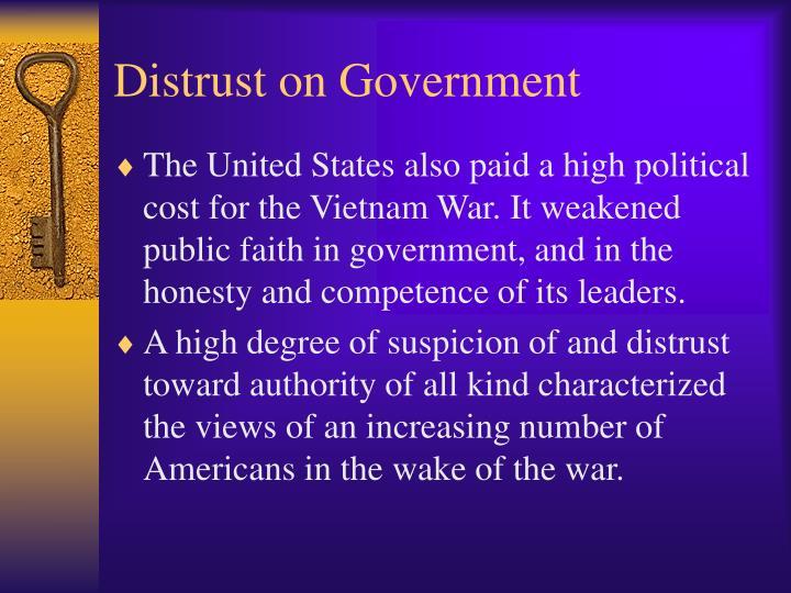 Distrust on Government