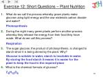 exercise 12 short questions plant nutrition