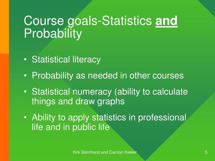 Course goals-Statistics