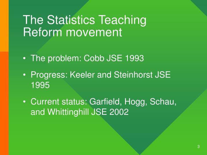 The Statistics Teaching Reform movement