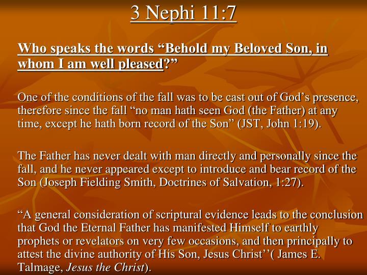 3 Nephi 11:7