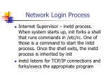 network login process