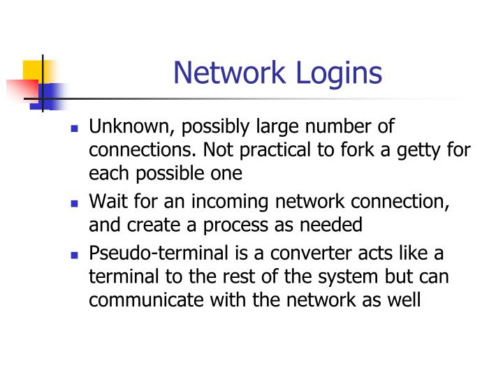 Network Logins
