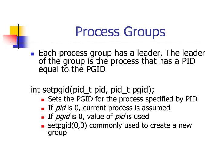 Process Groups