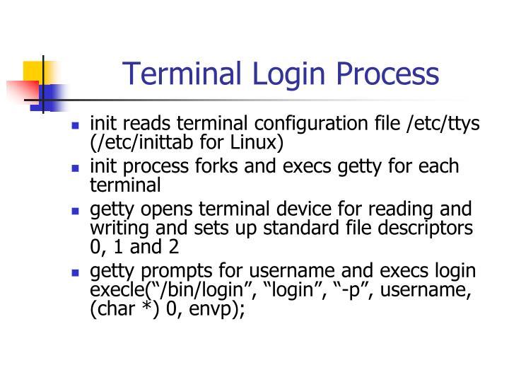 Terminal Login Process
