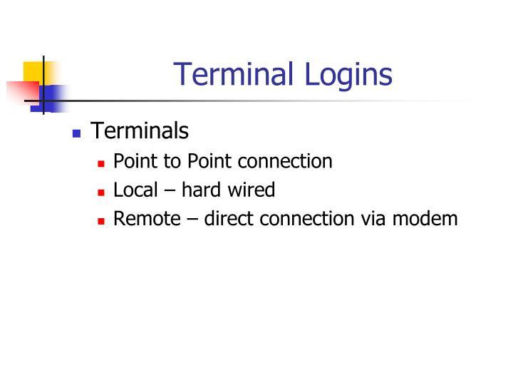 Terminal Logins
