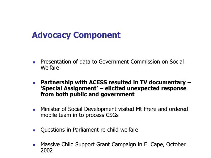 Advocacy Component