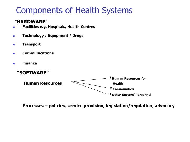 Components of Health Systems