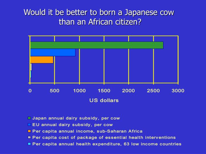 Would it be better to born a Japanese cow