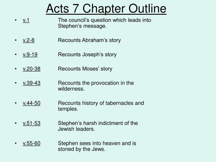 Acts 7 Chapter Outline