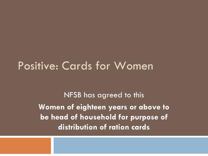 Positive: Cards for Women