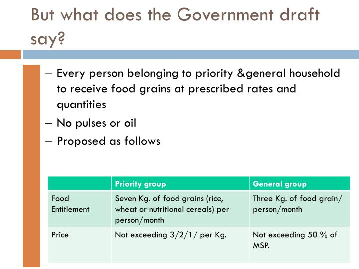 But what does the Government draft say?