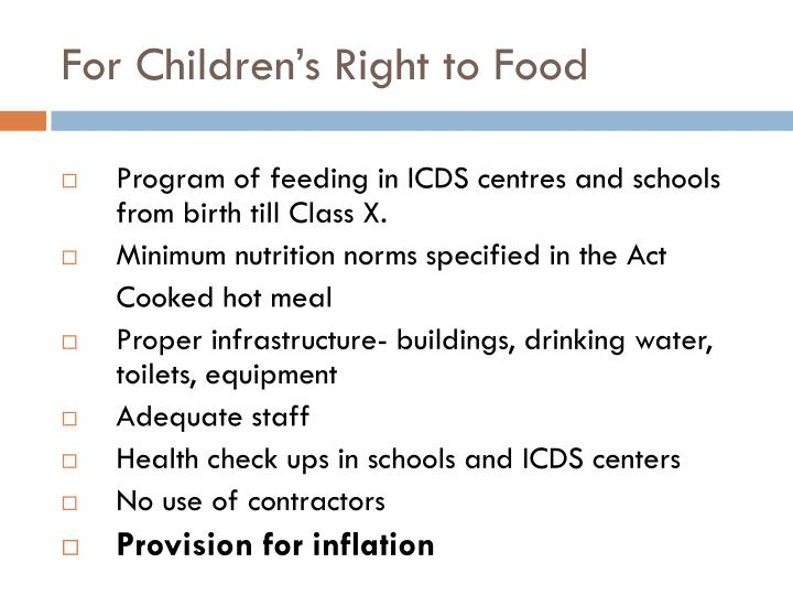 For Children's Right to Food