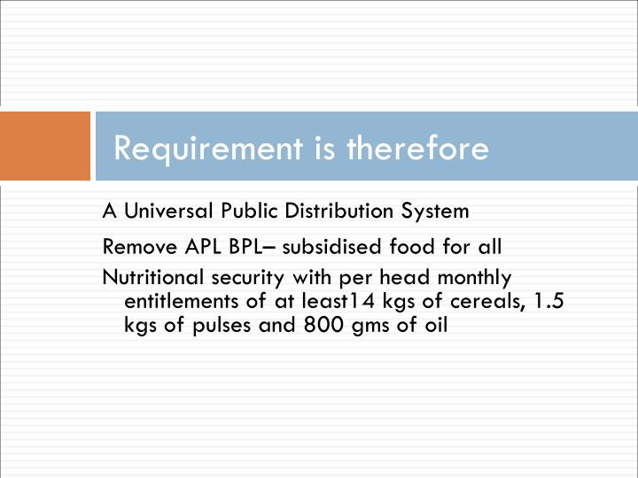 Requirement is therefore
