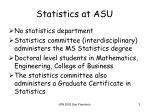 statistics at asu